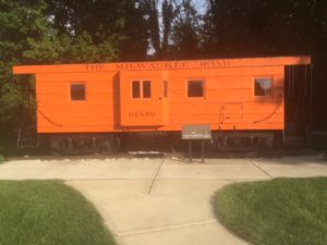 RR caboose at Itasca IL park district